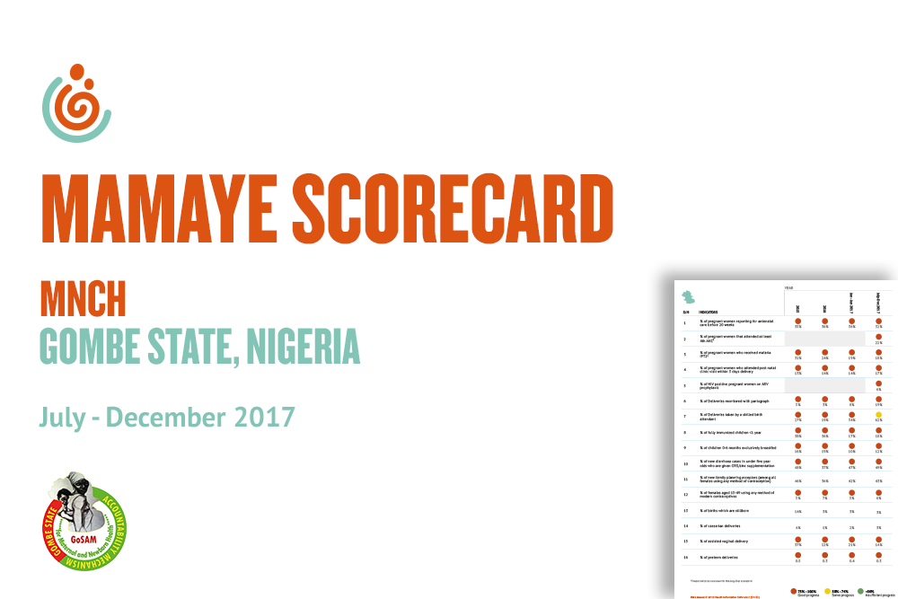 GOMBE STATE MNCH SCORECARD JUL-DEC 2017