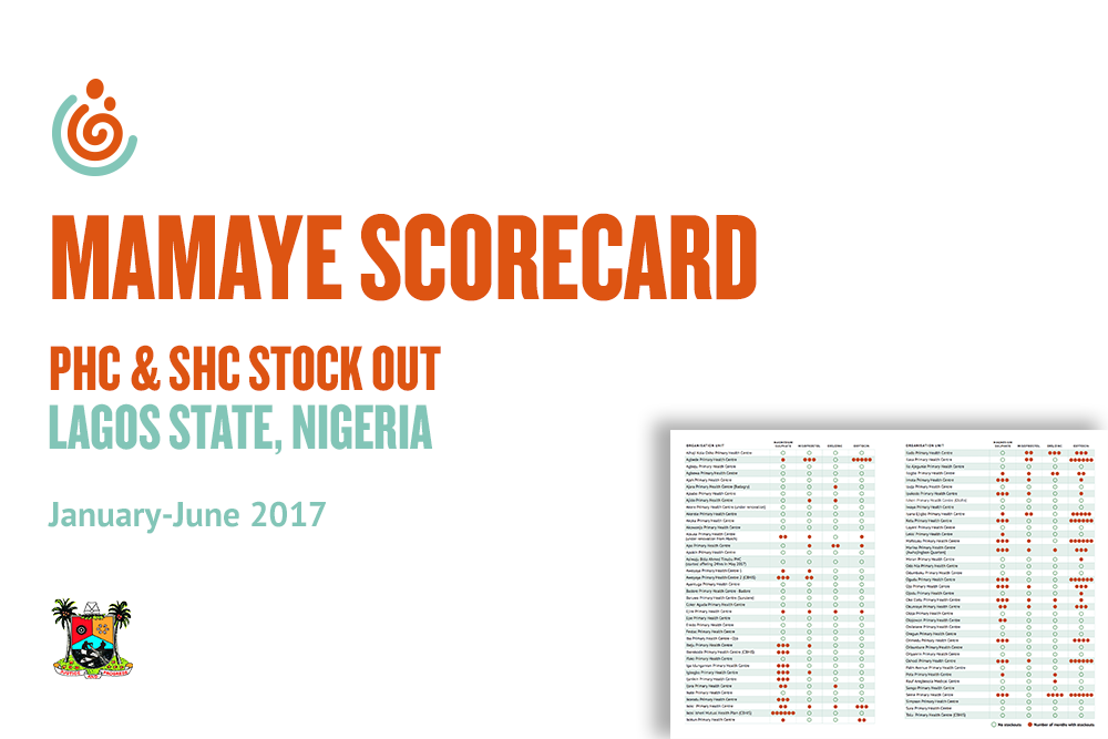 Lagos PHC and SHC stock out scorecards