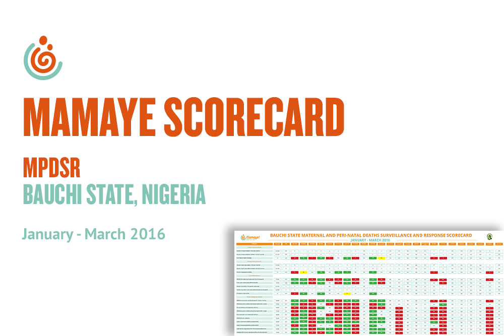 Bauchi State MPDSR Scorecard Jan–Mar 2016
