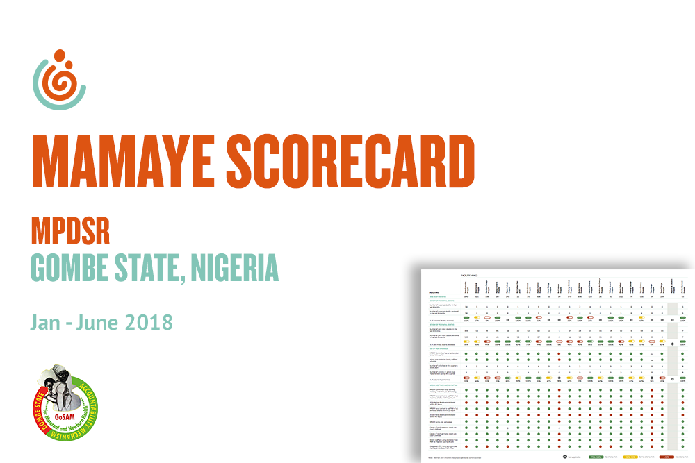 GOMBE STATE HEALTH FACILITY MPDSR SCORECARD JAN-JUNE 2018