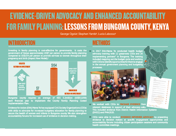EVIDENCE-DRIVEN ADVOCACY AND ENHANCED ACCOUNTABILITY FOR