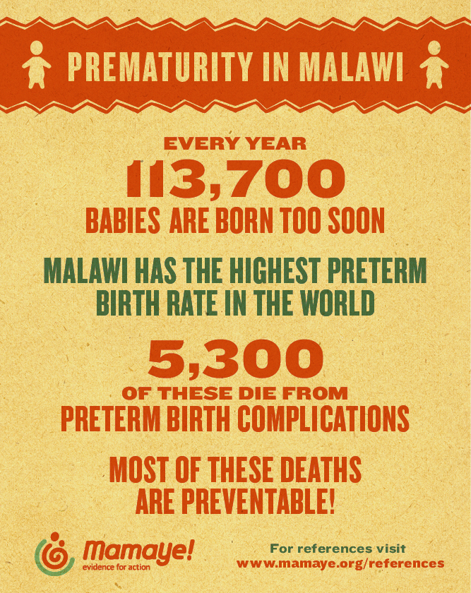 MamaYe Infographic on Prematurity in Malawi 2016
