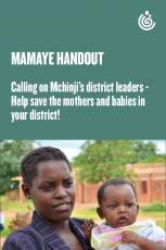 MamaYe advocacy leaflet calling on Mchinji district leaders