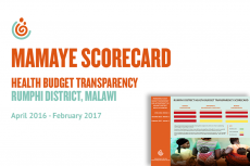 Rumphi District Health Budget Transparency Scorecard
