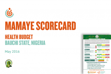 Bauchi State Health Budget Scorecard – May 2016