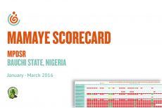 Bauchi State MPDSR Scorecard Jul–Dec 2015