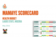Lagos State Health Budget Scorecard: May 2016