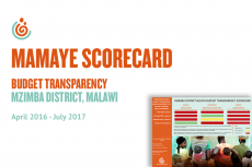 Mzimba District Health Budget Transparency Scorecard