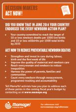 MamaYe Infographic on Prematurity: Decision Makers Act Now 2014