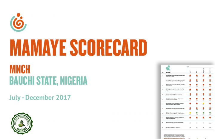 BAUCHI STATE MNCH SCORECARD JUL-DEC 2017