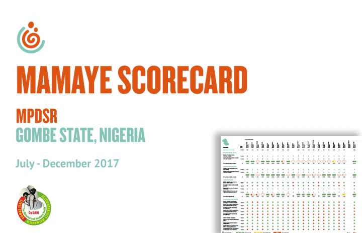 GOMBE STATE HEALTH FACILITY MPDSR SCORECARD OCT-DEC 2017