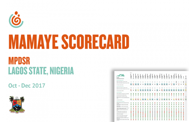 LAGOS STATE HEALTH FACILITY MPDSR SCORECARD OCT-DEC 2017