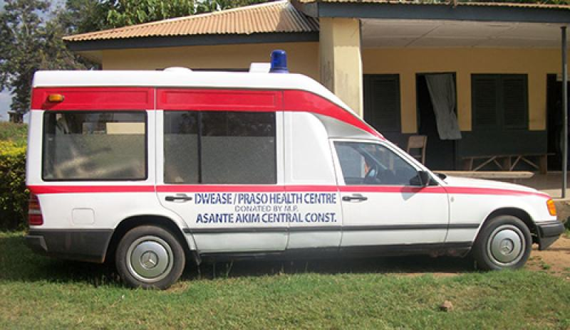 Repaired ambulance in Ashanti, Ghana