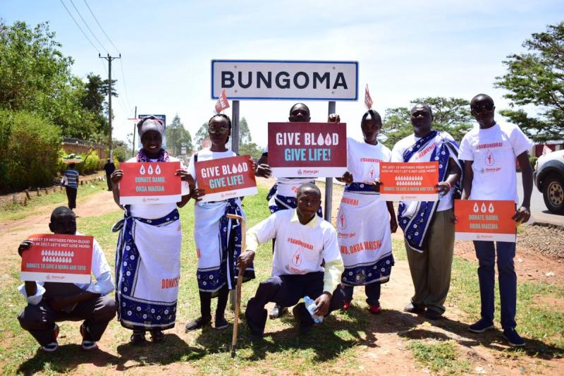 E4A-Mama Ye campaign #DamuniUhai calling for funding for blood services in Bungoma County