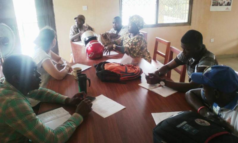 Cross Section of MamaYe Koinadugu Advocacy Group member during  planning meeting for WBDD