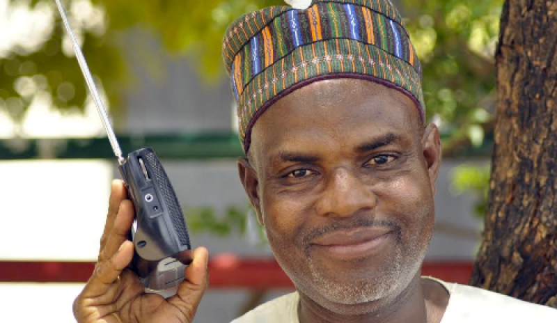 Image result for Northern Nigerian man  with a transistor radio