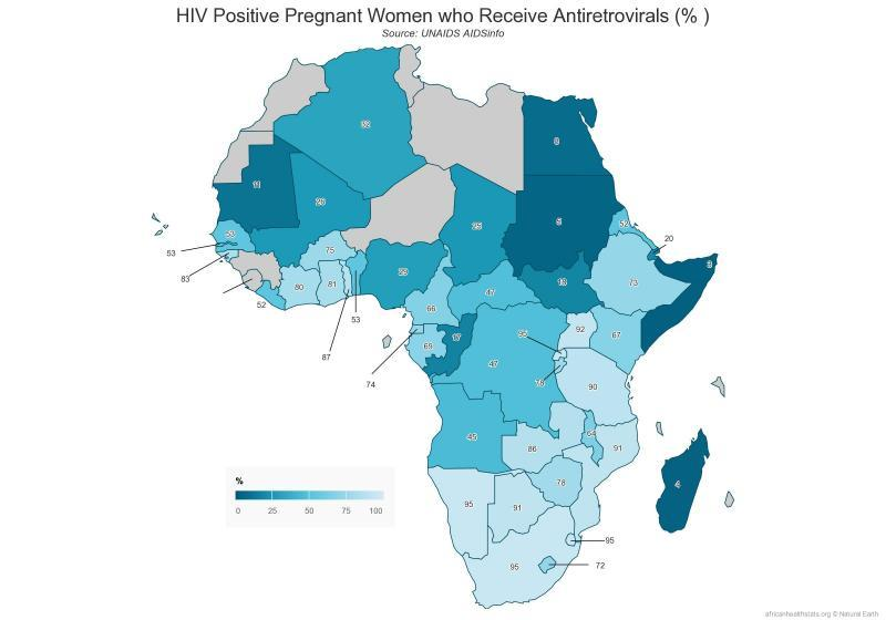 HIV positive pregnant women who receive antiretrovirals