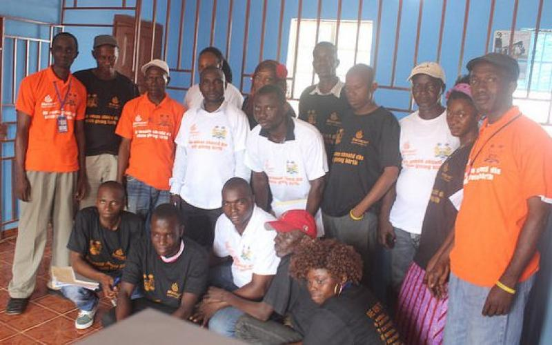 Media training group of journalists in Koinadugu and Bonthe Districts