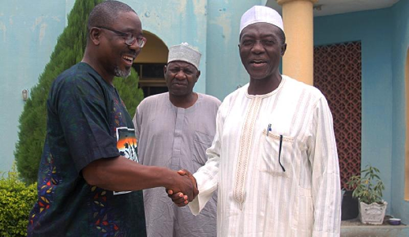MamaYe Media Advisor, Olaide Sokunbi (L) and GM, Bauchi Radio Corporation
