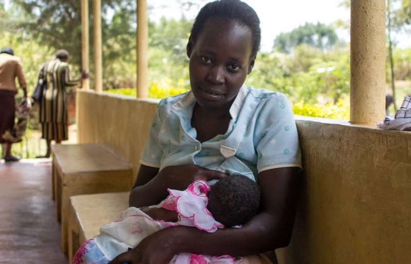 mother breastfeeding in Kenya